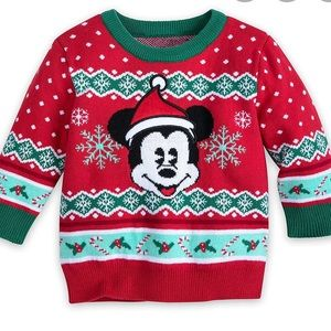 NWT Disney Mickey Mouse holiday sweater